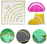 Arcs & Fans Quilt Circle Cutter Ruler, Multifunctional Simplicity Non-Slip Fabric Circle Rotary Cutting Template,For Quilting, Sewing & Crafts