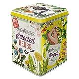 Nostalgic-Art Caja Retro Selected Herbs – Idea de Regalo para Cocina, para Guardar té a Granel y bolsitas, Diseño Vintage, 100 g