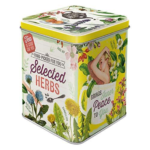 Nostalgic-Art Retro Teedose Herbs Selected, para Guardar Suelto y Bolsas de té, Diseño Vintage, 100 g