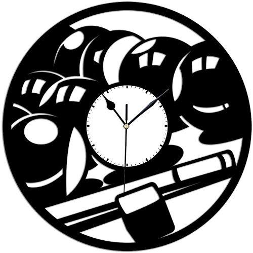 RIII Schallplatte Wanduhr Billard Billardtisch Schallplatte Wanduhr Sportliebhaber Einzigartiges Geschenk Home Decoration 30 × 30Cm
