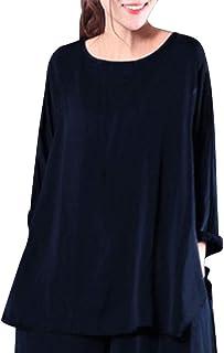 Plojuxi Tシャツ レディース 長袖 ゆったり 無地 創意デザイン トップス ブラウス カットソー おしゃれ 大きめ シンプル カジュアル おおきいサイズ 春秋 ファション かわいい 通勤 通学 快適 吸汗速乾 体型カバー 女性