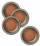 Merritt International Coral Sandstone 8in round plate 4 Pack
