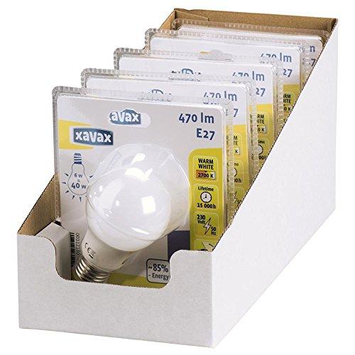 Xavax 00112180E275.6W LED Glas Glühbirne, 5Stück, warmweiß