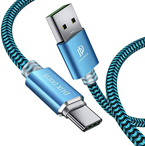 DUX DUCIS USB C Kabel [1M] für Samsung Galaxy S10 / S10 Plus / S9 / S9 Plus, Durable Nylon Fast Charge USB C Ladekabel für All Samsung USB Typ C Device