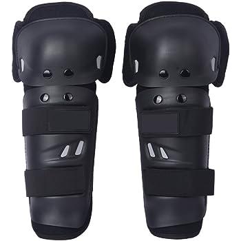 /… Black Qiilu QL02170 4 Pezzi Moto Motocross Ciclismo Gomitiere e Ginocchiere Protezioni Guardie Armature Set Nero