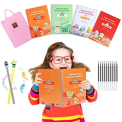 Magic Practice Copybook for Kids : Upgraded Large Size Handwriting Practice Workbook- Reusable Writing Practice Copybooks for Preschools