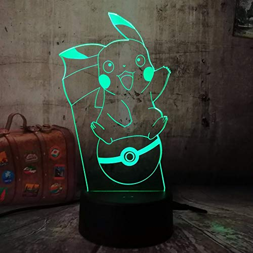 Jiushixw 3D Acryl nachtlampjes met afstandsbediening van kleur veranderende bureaulampen mooie hoeken veel desktops voor baby kinderen touch tafellampen eucalyptus