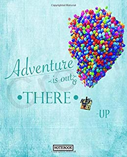 Notebook: Up Cartoon Animated Comedy House Balloon Young Wilderness Explorer Russell Funny Kids Adults Elementary Supplies Student Teacher Daily ... Lined Pages Book 7.5 x 9.25 Inches 110 Pages