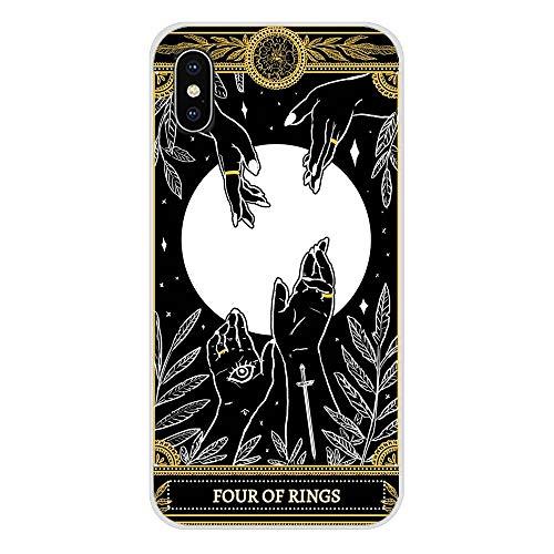 Inspired by Tarot Cards Phone Case Compatible With Iphone 7 XR 6s Plus 6 X 8 9 11 Cases Pro XS Max Clear Iphones Cases TPU- Vaporesso- Manara- Starman- Sasuraibito- 4000184553655