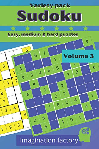 Sudoku variety pack. Easy, medium & hard puzzles: 100 puzzles. 6x9 travel size. Easy to carry (Travel Sudoku variety packs. On the go or at home !)