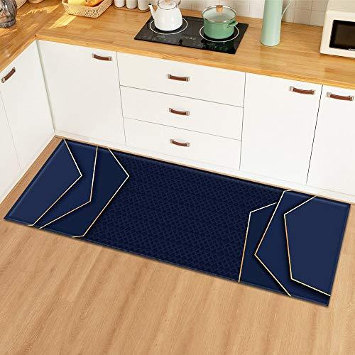 OPLJ Modernes 3D-Muster Dekoration Matte Badezimmer Home Fußmatte Eingang Schlafzimmer Küche Teppich Wohnzimmer Flur Boden Teppich A13 50x160cm