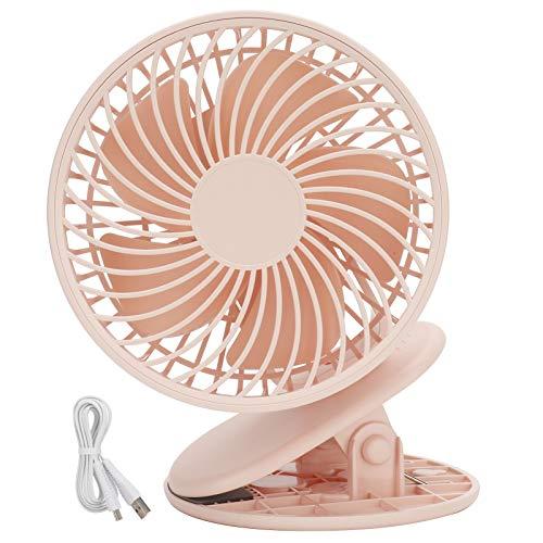 Mini ventilador, ventilador de escritorio, ventilador con clip, para viajes, dormitorio, oficina en casa(pink, Pisa Leaning Tower Type)