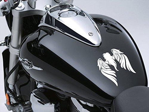 Tribal Engel Motorrad Fuel Tank Aufkleber Auto Aufkleber 100mm x 115mm, weiß