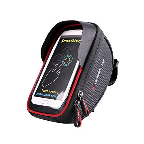 Viviance ZHVIVY 6inch Waterdichte Touch Sceen Mobiele Telefoon GPS Tas Stuur Mouting Red