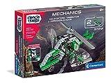 Clementoni-55158 - Mechanics - Helicoptero trirritor + Aerodeslizador - juego de construcciones mecánica a partir de 8 años