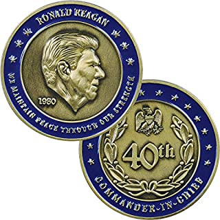 Medals of America President Reagan Challenge Coin Silver