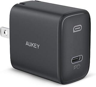 AUKEY USB-C 急速充電器 20W 超小型 折り畳み式プラグ PD3.0 Type C 充電器 iPhone 12 / 12 Pro / 12 Pro Max/Xperia/Android/Nintendo SwitchなどのPD充電に...