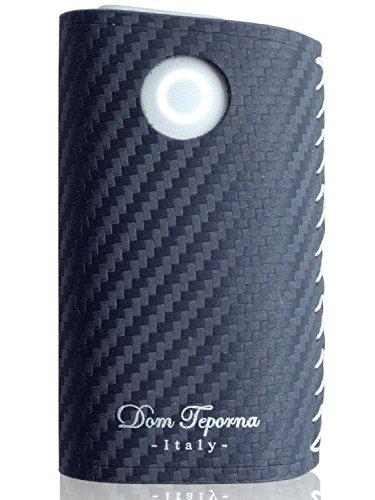 Dom Teporna Italy glo対応 スリーブ イタリアンカーボンレザー 手縫い ハンドメイド 牛革 カーボン レザー グロー対応 ケース カバー 薄型 メンズ レディース ネイビー