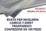HOME & LAUNDRY Buste Maglia Camicie T-Shirt 35x50 cm Nylon PLT 100 Pezzi...