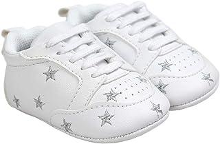 lakiolins Baby Boy Girl Slip-on Stars Sneakers Anti-Slip Soft Sole First Walkers Crib Shoe