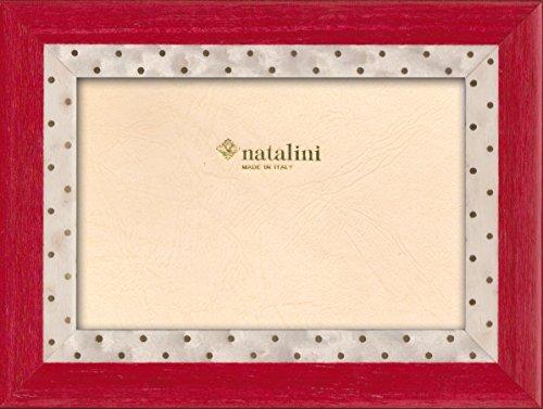 Natalini Marie ROSSOBIANCO 10X15 Marco de Fotos con Soporte para Mesa, Madera, Rojo, 10 X 15 X 1,5