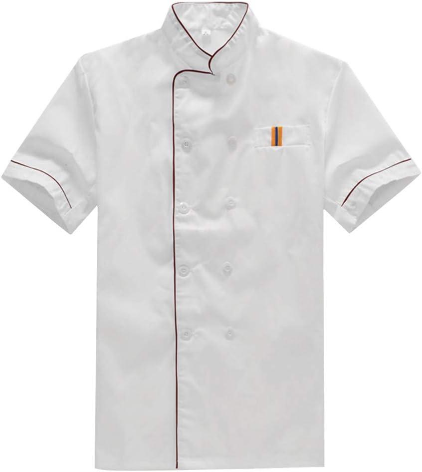 BESTonZON Short Sleeve Chef Sleeved Surprise price trend rank Ca Jacket Uniform