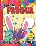 Buona Pasqua: Libro da colorare per bambini, 1-4 anni / 50 disegni originali per bambini piccoli.