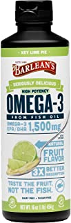 Barlean's Seriously Delicious Omega-3 High Potency Fish Oil, Key Lime Pie, 16 oz