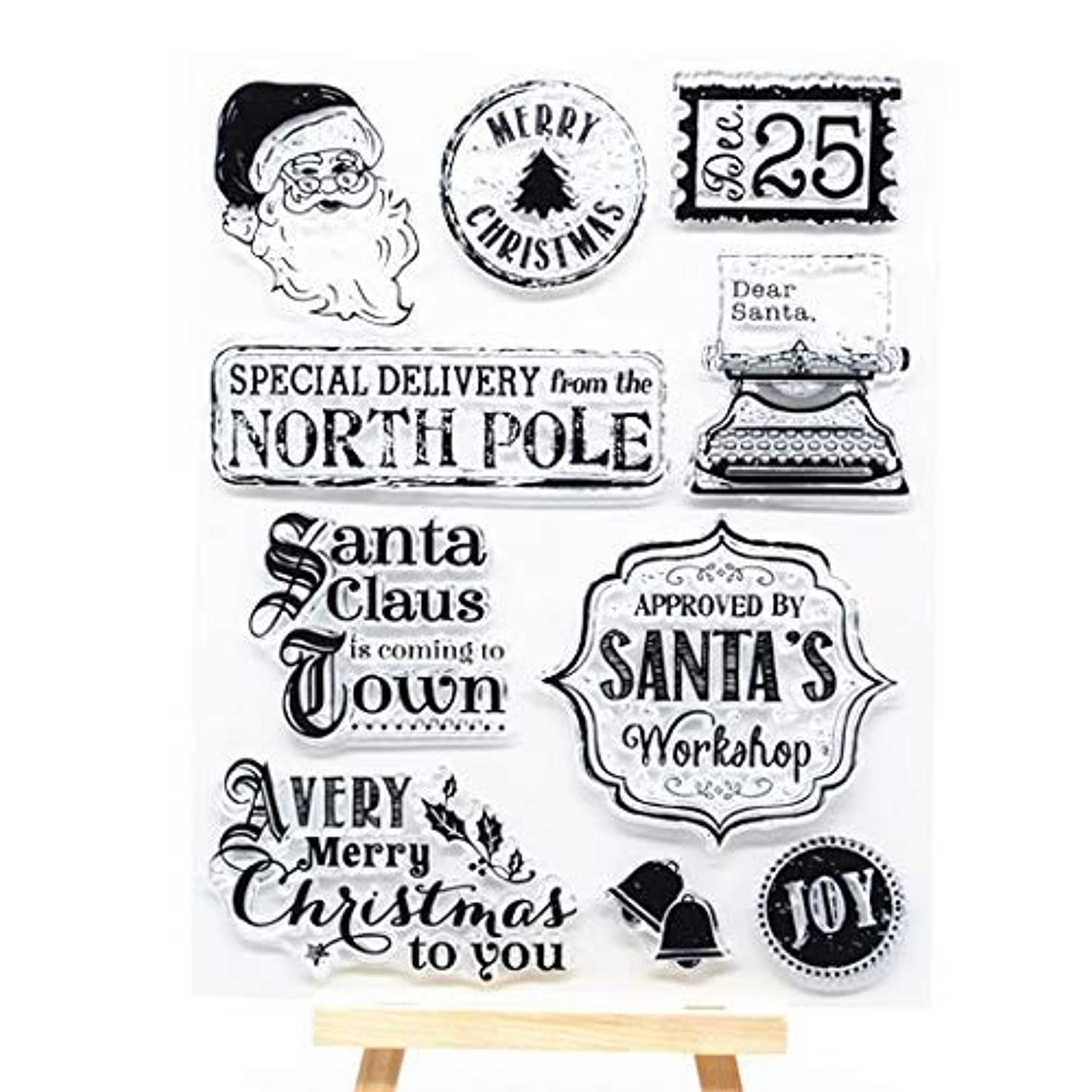 Welcome to Joyful Home 1pc Christmas Clear Stamp for Card Making Decoration and Scrapbooking