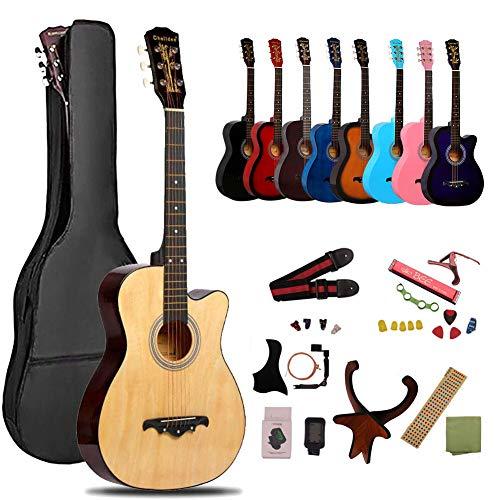 アコースティックギター 16点セット ギター 初心者 入門 クラシックギター 学生 初心者入門セット 小学生 大人用 ギター 初級 セット ギター 弦 バッグ ストラップ チューナー ピックガード ストラップポリシングクロス アコギセット