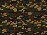 Camouflage Army Print Baumwolle Popeline Stoff Woodland –