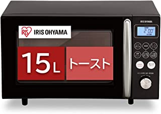 アイリスオーヤマ オーブンレンジ 15L ブラック MO-T1501-B