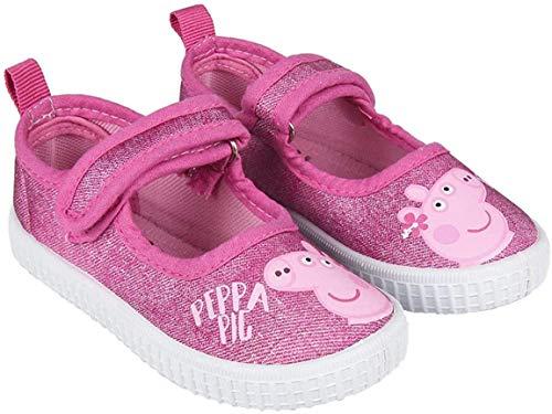 Peppa WUTZ Sandalen für Mädchen, rutschfeste Sohle, Klettverschluss, Kinderschuhe Sommerschuhe 4333 Sterne rosa Gr.22 EU