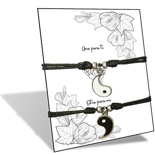 HAND-PRO Collar Ying Yang Collares Mejores Amigas 2 Collar Best Friend Collar Amistad Colgante Ying Yang Collares de la Amistad
