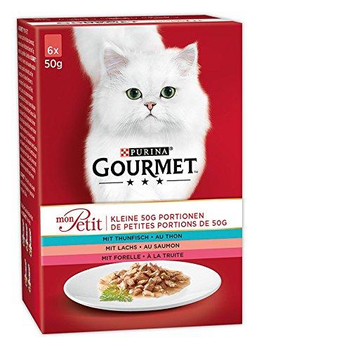 Gourmet Mon Petit Katzennassfutter Fisch-Variationen 8er Pack (a 300 g / 6 x 50 g)