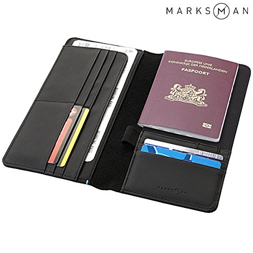 Portafoglio da Viaggio Nero Odyssey Marksman Porta Biglietto e Passaporto