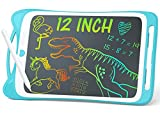 Jasonwell Kids Drawing Pad Doodle Board 12'' Colorful Toddler Scribbler Board Erasable LCD Writing Tablet Light Drawing Board Educational Learning Toys Gifts for 3 4 5 6 7 8 Year Old Girls Boys(Blue)