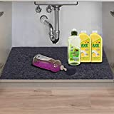 Under The Sink Mat,Kitchen Tray Drip,Cabinet,Absorbent Felt Layer Material,Backing Waterproof (24inches x 48inches)