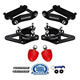Supreme Suspensions - 3' Front + 2' Rear Lift Kit for 2005-2020 Nissan Frontier & 2005-2015 Nissan Xterra High-Strength Steel Front Lift Strut Spacers + Rear Lift Shackles Kit | Bump Stops Included