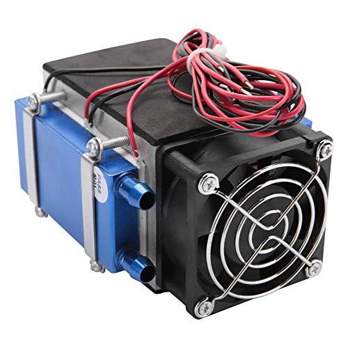Enfriador termoeléctrico, 12V 280W 4-Chip Termoeléctrico Semiconductor Enfriador de aire Dispositivo de enfriamiento para refrigeración de espacios pequeños, refrigeración de lechos de mascotas, etc.
