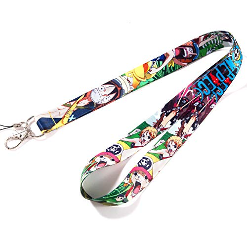 ONE Piece Anime Keychains,Keychain Lanyard,Anime Lanyard,ID Holder for Badge (one piece6 Yellow za)