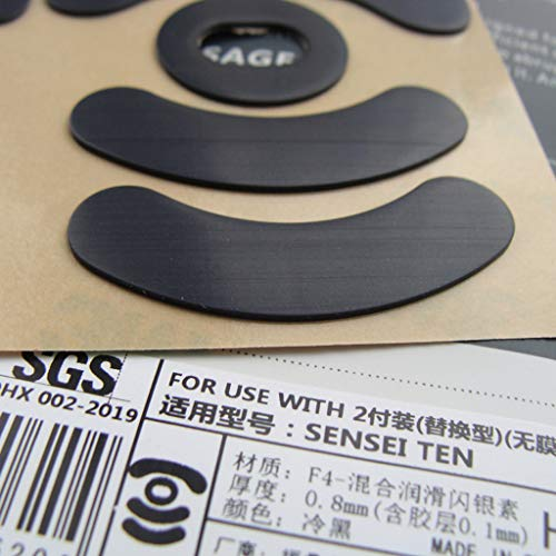 huiingwen 2 Set 0,8 Mm Hotline-Spiele Aufkleber Auf Wettbewerbsniveau Für Mausfüße, Rutschfestes Computerband Für Steel Series Sensei Ten Mouse