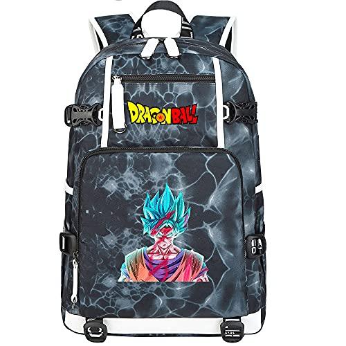 ZZGOO-LL Dragon Ball Son Goku/Torankusu Bolsa de Hombro Mochila para Exteriores para un montón de Almacenamiento Bolsa USB Unisex-G
