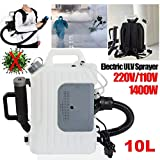 Portable Backpack ULV Fogger/Sprayer Electric Machine, 110V, Distance 8-10 Meters - Disinfection Sprayer, Indoor Disinfection Machine Suitable for Clinic, Home, Office, Hotel, Car, etc;
