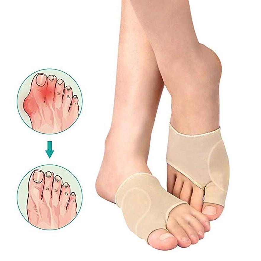 禁止する病的原理Bunion Corrector Toe StraightenerビッグトゥスプリントバニオンプロテクターはHallux外反疼痛緩和1ペアのためのゲルパッドとセパレータ付きスリーブをサポートしています,M