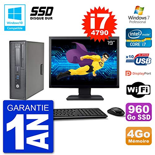 HP PC EliteDesk 800 G1 SFF Pantalla 19