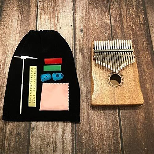 Kalimba, Daumenklavier 17 Keys Finger Kalimba Mbira Sanza Daumenklavier Pocket Size Unterstützung Tasche Tastatur Marimba Holz Musikinstrument (Color : Type 1)