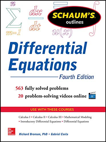 Compare Textbook Prices for Schaum's Outline of Differential Equations,  Schaum's Outlines 4 Edition ISBN 9780071824859 by Bronson, Richard,Costa, Gabriel