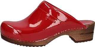 Sanita Dames Classic Patent Open Clogs
