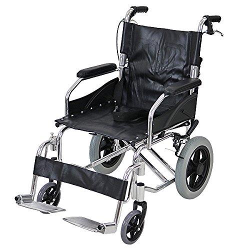 車椅子 アルミ合金製 黒 約10kg TAISコード取得済 背折れ 軽量 折り畳み 介助用 介助ブレーキ付き 携帯バッグ付き ノーパンクタイヤ 折りたたみ コンパクト 軽い 背折れ式 介助用 介助 車椅子 車イス 車いす ブラック wheelchairb6